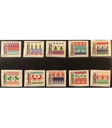 3002 - 3011 Decemberzegels (xx) losse zegels