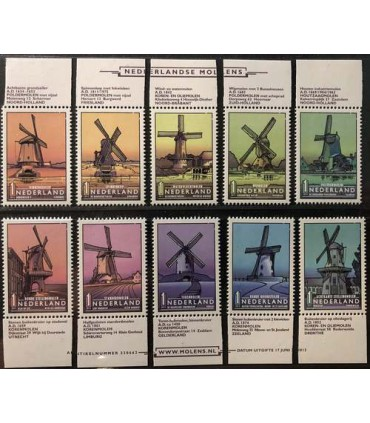 3069 - 3078 Nederlandse Molens (xx)