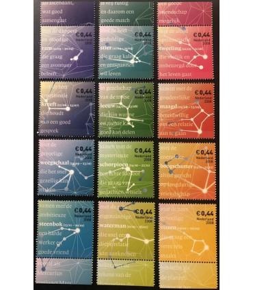 2581 - 2592 Sterrenzegels (xx) los