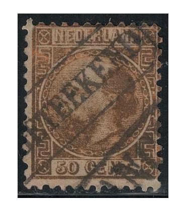 012 Koning Willem III (o) 8. Stempel