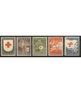 607 - 611 RodeKruis zegels (xx)