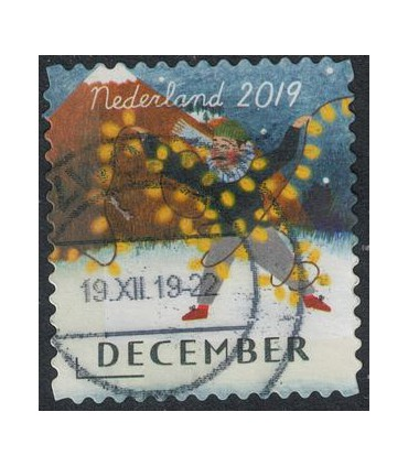 3801 Kerstzegel (o)