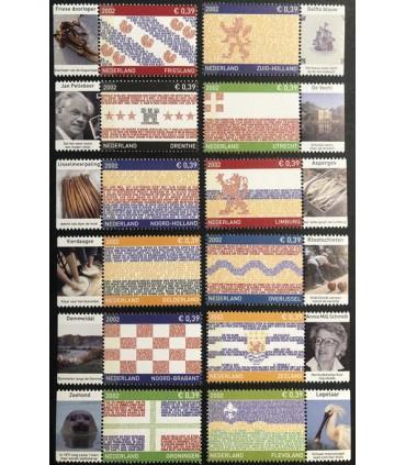 2065 - 2076 Provinciezegels los 12 stuks (xx) TAB