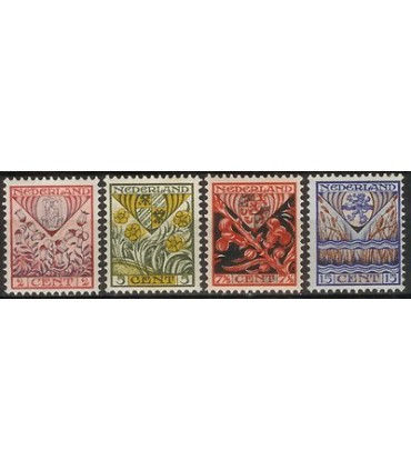 208 - 211 Kinderzegels (x)