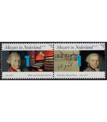 3414 - 3415 Mozart orgel-bladmuziek (xx)