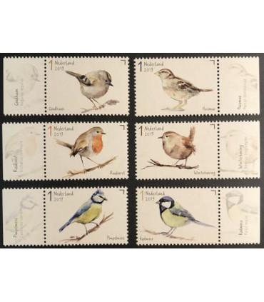 3743 - 3748 Tuinvogels (xx)