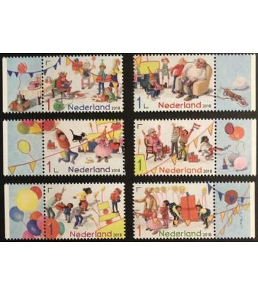 3614 - 3619 Verjaardagspostzegels (xx)