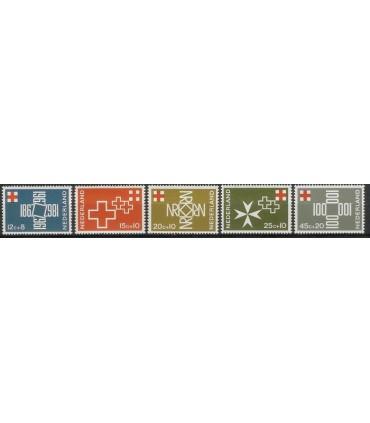 889 - 893 Rode Kruis Zegels (xx)