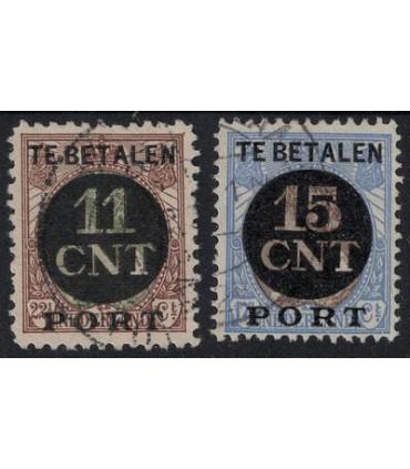 1 en 2 Postpakketverrekenzegel (o) 3.