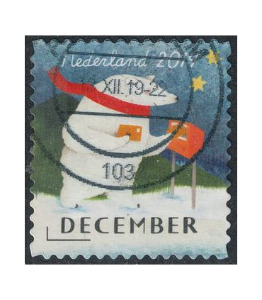 3808 Kerstzegel (o)