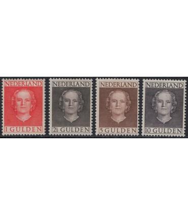 534 - 537 Koningin Juliana (x) certificaat