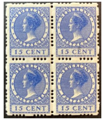 R48 Koningin Wilhelmina (xx) blok van vier