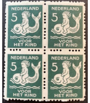 R83 Kinderzegel (xx) blok van vier