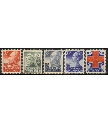 203 - 207 RodeKruis zegels (x)