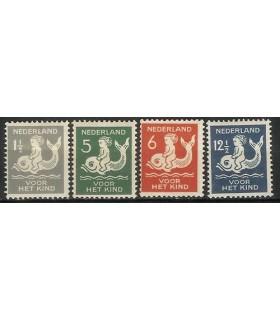 225 - 228 Kinderzegels (x)