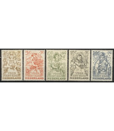 544 - 548 Kinderzegels (xx)