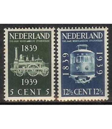 325 - 326 Spoorwegjubileumzegels (xx)