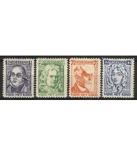 220 - 223 Kinderzegels (x)