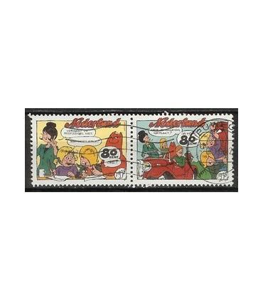 1782a - 1782b Strippostzegel (o)