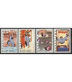 1146 - 1149 Kinderzegels (xx)