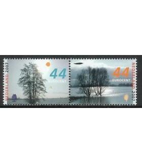 2528 - 2529a Bomen in de winter (xx)