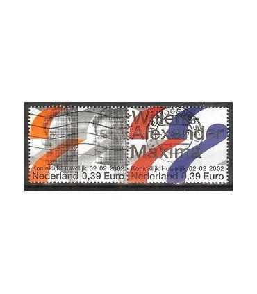 2046a - 2046b Koninklijk Huwelijk zegel (o)