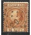 009 Koning Willem III (o) puntstempel 29.