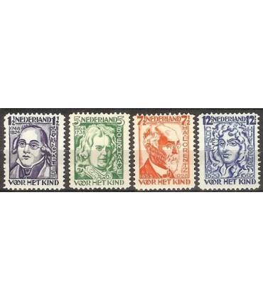 220 - 223 Kinderzegels LEES! (xx)