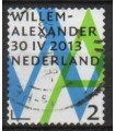 3058 Willem Alexander Inhuldigingszegel 2 (o)